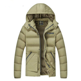 Wholesale Cheapest Men Furs - Mens Down Jacket Fur Collar Thick Winter Coat Hooded Down Parkas Cotton Padded Windbreaker Outwear Warm Overcoat 2016 m l xl xxl Cheapest