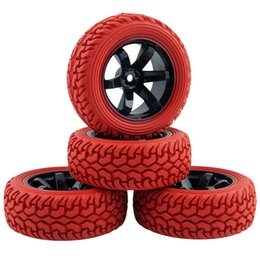 Wholesale Rc Rally - RC HSP HPI 701A-8019R Rubber Tire&Plastic Wheel Rim For 1:10 On-Road Rally Car