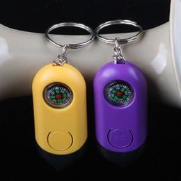 luces led personalizadas Rebajas Llaveros Linternas Tipo de brújula Luces LED Llaves por encargo Cadenas Linterna Plástico Universal Popular Fashion 0 8js