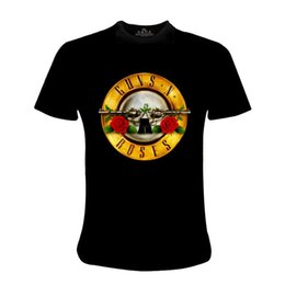 Wholesale Gun Quick - Guns N' Roses Men's Cotton Fashions T-shirt Virtuoso Men's T-shirt Man Printing Sleeve Rock Short Shirts Plus Size S-XXXL