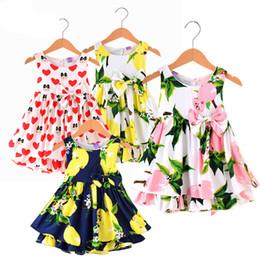 Canada Mode Enfant Robes Enfants Girl Lemon Flower Dress Princesse arc Dress Girl Party Elegant Flower Enfant Dress 4 couleurs cheap elegant infant flower dresses Offre
