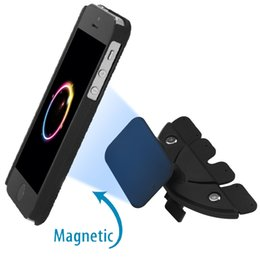 Wholesale Multifunctional Portable - Universal Mini Portable Multifunctional Adjustable Magnetic Car CD Slot Mount Holder Portable Stands Mobile Phone or iPhone 6 6s 155567801