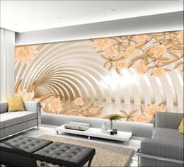 Gros-3d papier peint personnalisé mural non-tissé Stickers muraux Fleurs élégantes en 3d espace salon mur photo papier peint pour murs 3d ? partir de fabricateur