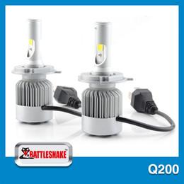 Wholesale Led Headlight Cheap - Wholesale- Q200 2PCS Square COB Chip LED Headlight for 12v Cars H4 H7 Optional Cheap Bulbs Led Headlight 40w Car LED Headlight