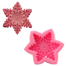 Wholesale Snowflakes Cake Mold Silicone - 2pc lot Snowflake Shaped Silicone Soap Baking Tray Mold 10.6cm Soap Mould, Bakeware Pastry Bread Cake Moulds Kitchen Cooking Tools