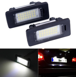Wholesale Bmw E39 License Plate Light - 2PCS lot 12V White 6000K Led license plate light Number Lience Lamp For bmw e60 E82 E90 E92 E93 M3 E39 E60 E70 X5 E39 E60 E61 M5