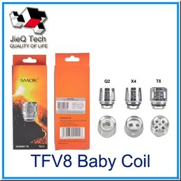 Wholesale T8 Atomizer Coil - SMOK Cloud Beast Tank TFV8 Baby Coil Head T8 X4 Q2 For TFV8 Atomizer Replacement Replacement Coil For TFV8 Baby Tank