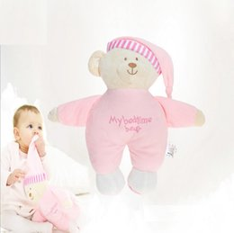 Wholesale Anime Material - Excerllant Quality 31cm Kids Plush Bear Toy Super Soft Crystal PP Material Baby Sleeping Stuffed Animals
