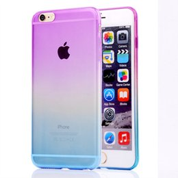 Wholesale Iphone Sleeve Clip - Gradient iphone 7 Apple Case for iphone 7 7s 6 6s 5 5s se samsung S7 S6 edge S5 Protective Sleeve Super Soft TPU Plastic Cover Rainbow shell