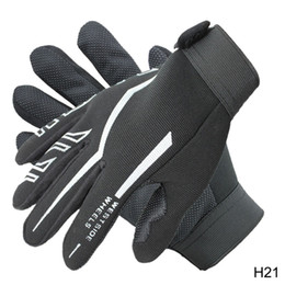 Wholesale Glove Guard - Wholesale- sports full gloves for men racing motorcycle bicycle guard protection bike riding motocross push-bike gloves canvas mittens H21