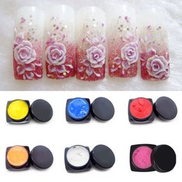 Wholesale Glue Nails 3d - Focallure DIY Manicure 3D UV Gel Sculpture Gel Nail Art Tip base Creative Decoration Beauty Gel Polish glue kit M01806