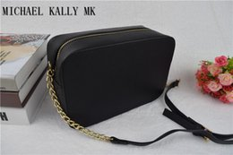 Wholesale Plain Crossbody - 2017 fashion women famous MICHAEL KALLY MK handbag PU leather cross pattern square bags one shoulder messenger bag crossbody chain purse
