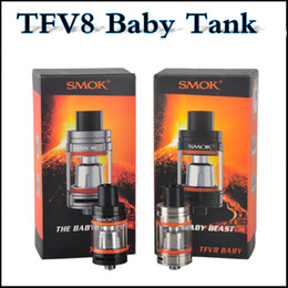 Wholesale Tank Refill - Top quality SMOK TFV8 Baby Tank 3.0ml Top Refilling Cloud Beast TFV8 Baby clone with Q2 T8 RBA coils fit alien Kit