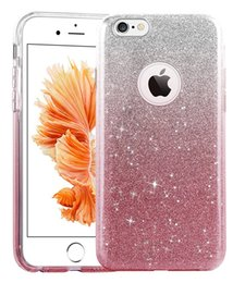 Wholesale Flash Crystal Case - For iPhone 6 6s Plus 7 Plus case Rhinestone Crystal Bling Glitter Phone case Following From the Rainbow Gradient Flash Powder cellphone Case