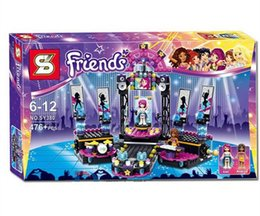 Wholesale Singer Toy - Children's toys big singers show stage friends girls series S licensing people Tsai assemble blocks toys A17071252