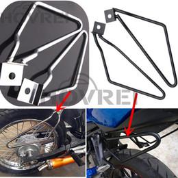 Wholesale Bar Mount Bracket - Motorcycle Accessories Stainless Steel Saddlebag Guard Bars Mount Bracket Guard For harley Davidson XL883 1200 HD1450 1584