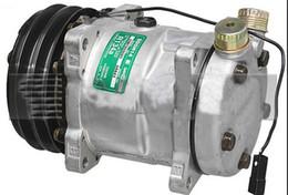 Compressor para ar condicionado on-line-Compressor de ar condicionado de peças de automóvel Sanden 6642 SD5H14 6511421 ROT VERTICAL TUBO-O 2G-132mm 12 V