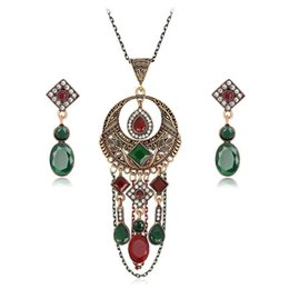 Wholesale Collar Set Necklace - 2017 newAcrylic Statement weddomg Necklace Earrings Jewelry Sets Choker Collar Fashion Jewelry 2017 News For Women