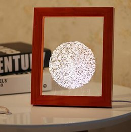 Wholesale Home Decoration Lighting Items - Wholesale Cut A Small Simple Desk Lamp Photo Frame Small Night Light Novelty Items 3D Night Light Home Decorations 01