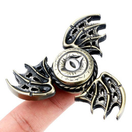 Wholesale fly fishing spinners - Metal Eagle Eye Fidget Spinners Drango Wing Spinner 3 Colors Zinc Alloy Hand Spinner Metal Flying Fish Spinners EDC Decompression Fidget Toy