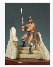 Wholesale Arnold Toy - Wholesale- Resin Kits 1 32 Scale 1 32 of Conan the Barbarian Arnold Schwarzenegger 54mm Resin Model DIY TOYS