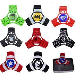 Wholesale Men Fantasies - 2017 Captain America Iron Man Hand Spinner Zinc alloy Spinner Fidget Toy EDC Autism ADHD Finger Gyro Toy oth470