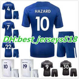 Wholesale Best David - best quality 17 18 Soccer Jersey kits 2017 2018 Willian MORATA HAZARD Pedro DIEGO COSTA KANTE WILLIAN DAVID LUIZ Football Shirts Jerseys