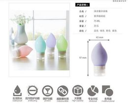 Wholesale 75ml Bottles Wholesale - 75ml Silicone Refillable Portable Mini Traveler Packing Bottle Press Bottle for Lotion Shampoo Bath Travel Bottle