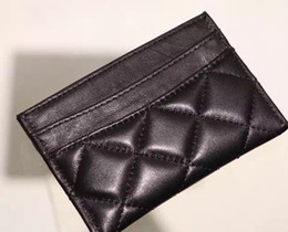 Wholesale Real Lattice - Hot sales! famous brand real Leather wallets Women classic Luxury lattice mini card holders 31510 Fashion ladies mini wallet