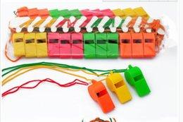 2019 пластиковые игрушки Дешевые продажи 2880 шт./лот продвижение красочные пластиковые спортивные свисток с талреп 6 цветов смешанные DHL Fedex Бесплатная доставка