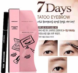Wholesale tattoo gifts wholesale - Waterproof Brown 7 Days Eye Brow Eyebrow Tattoo Pen Liner Long Lasting Makeup Women Gifts High Quality Eyebrow Liner