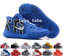Wholesale Sneaker Sports Shoes - 2017 New Arrival Kyrie Irving 3 Signature Game Basketball Shoes For Top Quality Men's Sports Training Basket ball Sneakers Size 40-46