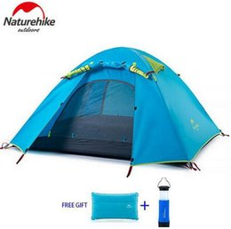 Wholesale Backpacking Camping Tents - Wholesale- Naturehike Outdoor Windproof Sleeping Hiking Double Layer Tent Rainproof Family Camping Tent For 2 3 4 Persons