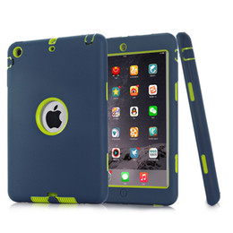 Wholesale Hybrid Screen Protector Stylus - For iPad mini 1 2 3 Retina 3 in 1 Hybrid Armor Shockproof Heavy Duty Silicone Hard Case Cover Screen Protector Film+Stylus Pen