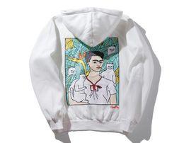 Wholesale Cat Sweater Xl - Latest designer Brand Cartoon RIPNDIP FRIDA Fred's famous spoof Cheap cat Hip-hop Superstar men and women hat hooded sweater