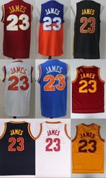 Wholesale New School - 2017 New Men Basketball Jerseys Throwback 23 LeBron James St. Vincent Mary High School Irish,Movie TUNESQUAD White Blue Yellow Stitched