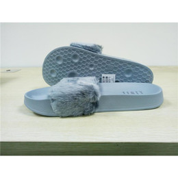 Wholesale Mens Winter Warm Slippers - (With Box and Dust Bags)RIHANNA FUR LEADCAT FENTY SLIDES SLIPPERS MEN House Winter Slipper Home Shoes Mens Warm Slippers hausschuhe