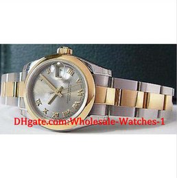 Wholesale Watch Roman Gold - New arrive Luxury watches free gift box Wrist watch Ladies 18kt Gold Stainless 26mm Slate Roman 179163