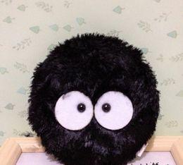 Wholesale Totoro Wallet Wholesale - Wholesale- CUTE 10CM Approx. TOTORO Black Dust Plush Coin Purse Wallet Pouch Case BAG ; Pocket COIN Pouch BAG