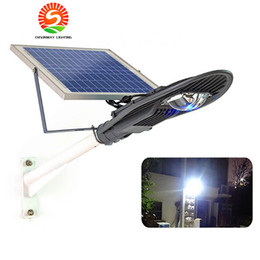 Wholesale 12v Led Remote Control - IP65 Integrated All in One Remote Control 20W 30W Solar Power LED Street Light Lamp Outdoor Garden Lighting with 5M Cable