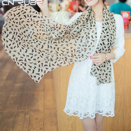 Wholesale Graffiti Shawl - Wholesale-CNRUBR Women's Chiffon Colorful Sweet Cartoon Cat Kitten Scarf Graffiti Style Shawl Girls Gift Women Shawl