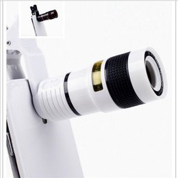 Wholesale Lens Zoom Optical - Universal 8x Optical Zoom HD Telescope Camera Lens Clip for iPhone 7 7 plus 6 6s Samsung Note 7 S7 Universal Mobile Phone lens