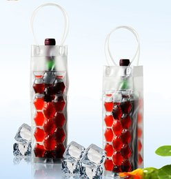 Wholesale Wine Bags Coolers Wholesale - Free shipping Gel Wine Bottle Chill Coolers Ice Bag-Freezer Bag- Vodka- Tequila Chiller- Cooler- Carrie rLLFA