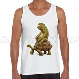 Wholesale Funny Tortoise - Wholesale- speed is relative design Men tank tops tortoise printed bodybuiding clothing funny fitness shirt sleeveless casual Vest