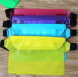 Wholesale Dry Bag Ipad - 22*12cm big universal sealed waterproof waist bag pouch underwater dry pack waist belt waistband bag wallet cases for iphone 7 plus s7 ipad