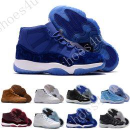 Wholesale Gold Advance - retro 11 XI bred concord Legend gamma blue mens basketball shoes cheap sneakers pantone black Advanced Sneakers Maroon Velvet Heiress Blue