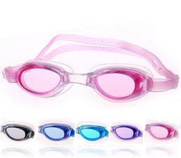 Wholesale Underwater Equipment - Professional Kids Diving Glasses Vogue Water underwater diving Equipment Waterproof HD Swimming Racing Myopic Goggles 5 Colors Drop shipping