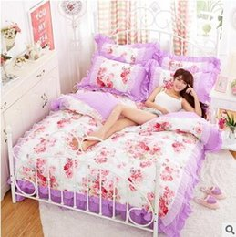 Wholesale Set Princess Skirt - fresh bed skirt princess wind lace bed set four sets of autumn and winter bedding sets