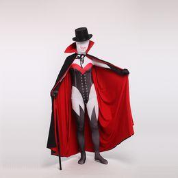 2019 body vert métallisé Halloween Sexy Adult Children Taille Lycra Zentai Body rouge et noir pour les femmes