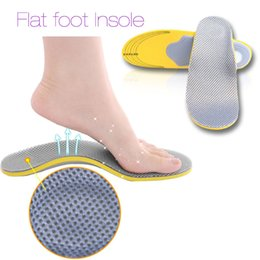 Wholesale Foam Insoles - 35-40 Comfortable Orthotics Flat Foot Insole PU Orthopedic Insoles Shoes Insert Arch Support Pad Plantar Fasciitis 2017 New Sale